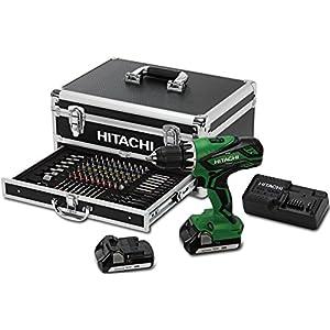 Batería-martillo Hitachi DV 18DJL maieta, 100 teiliges bit-accesorios