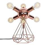 5-lights American Country Tischleuchte Wohnzimmer Schlafzimmer Lampe Villa Schmiedeeisen Roségold Retro Industrielle Dekorative Schreibtischlampe