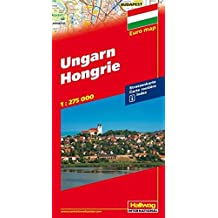 Ungarn Strassenkarte 1:275 000: Index (Hallwag Strassenkarten)