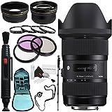 6Ave Sigma 18-35mm F/1.8 DC HSM Art Lens For Nikon # 210-306 + 72mm 3 Piece Filter Kit + Lens Pen Cleaner + 72mm Wide Angle Lens + 272mm 2X Telephoto Lens + SLR Camera Sling Bag + 70in Monopod Bundle
