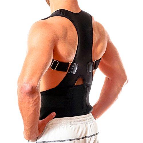 """Geradehalter Rückenbandage Schulterbandage zur Haltungskorrektur der Wirbelsäule bei Rundrücken\""""Größe - L\"""""""