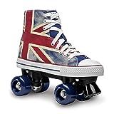 Roces Chuck Quad Skate, niños Unisex, Azul/Rojo/Blanco, 35