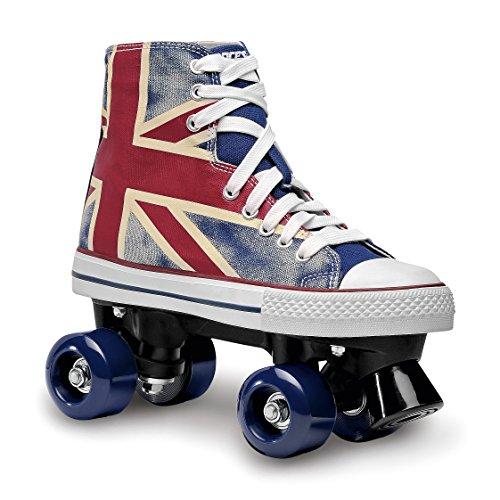 Roces Erwachsene Chuck Classic Roller Rollerskates/Rollschuhe Street, Union Jack, 41