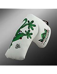 Funda para putter de golf para Scotty Cameron Taylormade Odyssey Blade, cierre magnético, diseño de lagarto, color blanco