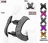 Xn8-Sport-Gewichtsweste, geeignet fürs Lauftraining, Workout, Crossfit und zum Gewichtsverlust, anpassbares Gesamtgewicht, 10kg., grau, (H) 44cm, (W) 33cm, (D) 7cm