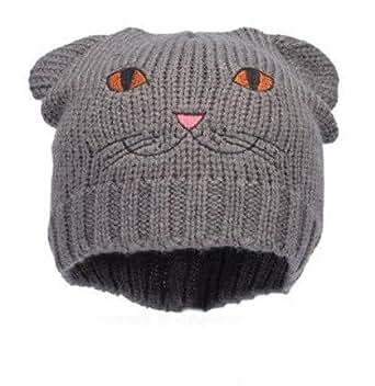 Bonnet Animal Chat Cat Fashion Wear - Coloris Gris - Tendance Collection Automne-Hiver Femme