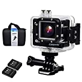Campark® ACT70 1080p 60fps Wifi Extreme Sports Action Camera Waterproof, 16MP,1296P,Ambarella A7l, 2k@30fps, 50m Underwater, Rf Wrist Remote Control, Time Lapse, G Sensor, UK SHIPPING