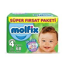 Molfix 3D Bebek Bezi Maxi Plus 4+ Beden, Super Fırsat Paketi 68 Adet
