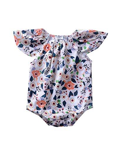Anywow Säugling Baby Mädchen Rüschen Blumen Strampler Sommer Baby Mädchen Kleidung Bodysuit Onesie ()