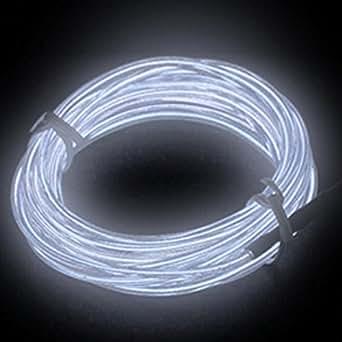 Igking supply Fil néon électroluminescent flexible pour voiture Blanc