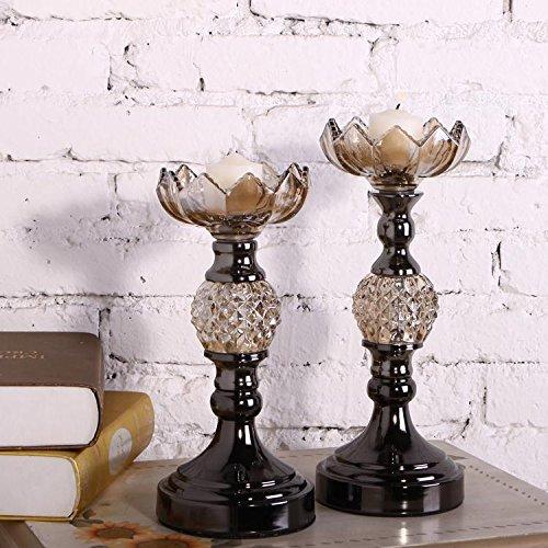 Portacandele di vetro stile europeo classico cristallo , l