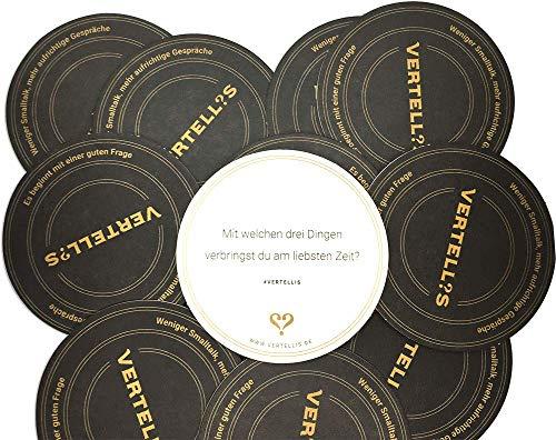 (Vertellis Coaster Untersetzer aus Pappe mit inspirierenden Fragen für mehr Entspannung - Getränkeuntersetzer & Bierdeckel- Für Deine Party, Bar, Geburtstag oder Hochzeit)