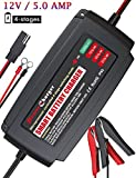BMK 12V 5Amp Fully Automatic Battery Charger 4-Stage Maintainer Smart Charging Waterproof