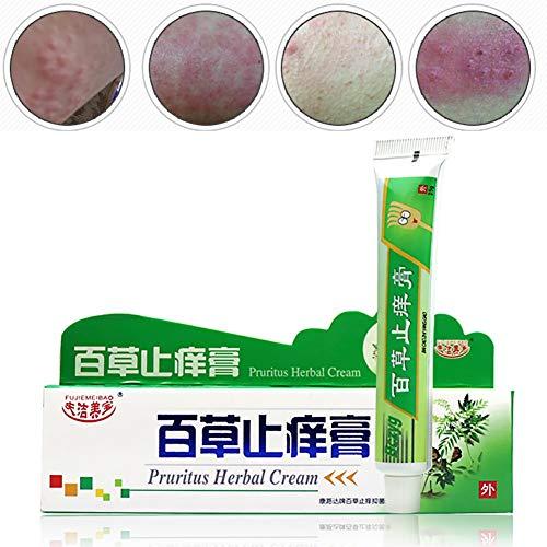 Kräuter Anti Juckreiz Creme, KISSION Pruritus Creme für Haut Juckende Ekzem Dermatitis Behandlungs Haut Trockene Creme (A) -