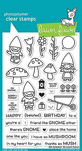 Lawn Fawn, Clear Stamp, oh GNOME!