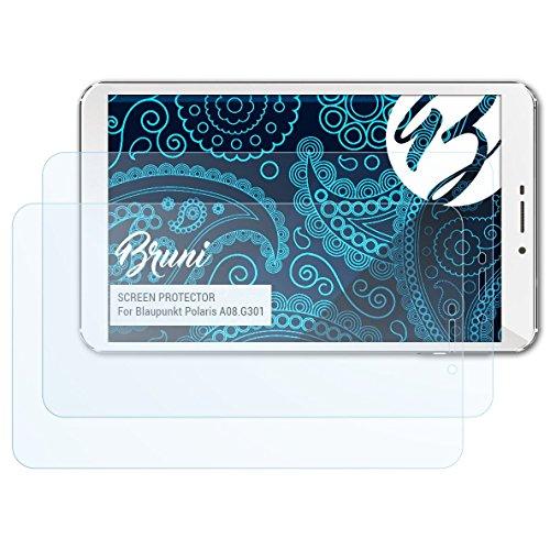 Bruni Schutzfolie für Blaupunkt Polaris A08.G301 Folie, glasklare Bildschirmschutzfolie (2X)