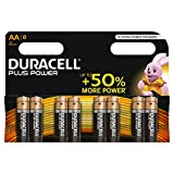 Duracell Plus Power Batterie Alcaline, Stilo AA , Confezione da 8