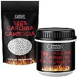 250 Kapseln - Garcinia Cambogia Extrakt, 3000mg pro Tagesdosis, 60% HCA hochdosiert + 200 L-Carnitin Fatburner Kapseln Vegan / Appetitzügler Fettverbrennung Diät Abnehmen