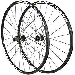 SELECTION P2R (Cycle) Roues Route 700 Mavic aksium Disc centerlock Noir 11v. Compatible 10v. Shimano (Avant + Arriere) - Serie Limitee