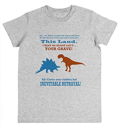 Curse Your Sudden But Inevitable Betrayal! Unisex Kinder Jungen Mädchen T-Shirt Grau Größe XL Unisex Kids Boys Girls's T-Shirt Grey Size XL