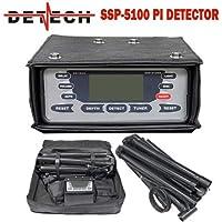 DETECH Detector Profesional de Metales SSP 5100 Pulse, Dorado y reliquia, con Bobina Cuadrada