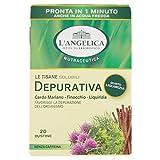 L'Angelica - Tisana Depurativa Solubile, Gusto Liquirizia - 2 confezioni da 20 filtri [40 filtri, 280 g]