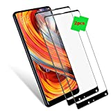 LAGUI Panzerglas, für Xiaomi Mi Mix 2s / Mix 2 Lite, 0.33mm 2.5D Kanten Schutzfolie, 9H Härte Panzerglasfolie, Ultra-klar Bildschirmschutz, Schutz vor Kratzern Schutzgläser. 2pcs Gläser, schwarz