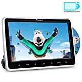 10,1' Zoll Auto Monitor DVD Player HD Bildschirm mit KFZ Kopfstützenhalterung Slot-in Disc unterstützt SD USB AV IN und Out für Kinder Schwarz NAVISKAUTO MTK1030