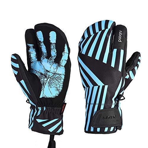 WYYUE Professionelle Skihandschuhe Mädchen Jungen Erwachsene Wasserdichte Handschuhe Ski Snowboard Handschuhe,Blue,S -