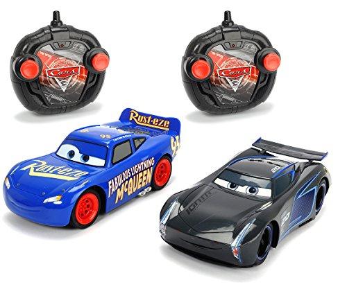 Twin 17 (Dickie Toys 203087009 - Fahrzeug RC Cars 3 Twin Pack LMQ + Jackson Storm, 1:24, 17cm)