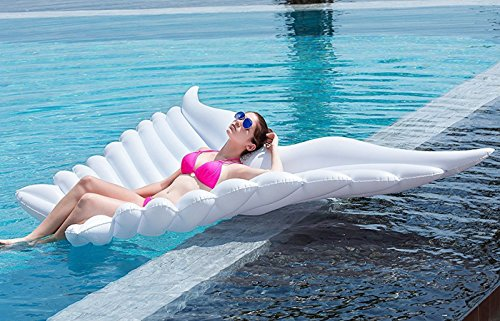 HEQUN Aufblasbarer Engels Flügel Pool Wasser Luftmatratzeschwimmtier Floß Schwebebett Wasserspielzeug schwimminsel Strand Party (250x180 cm, Mariposas)