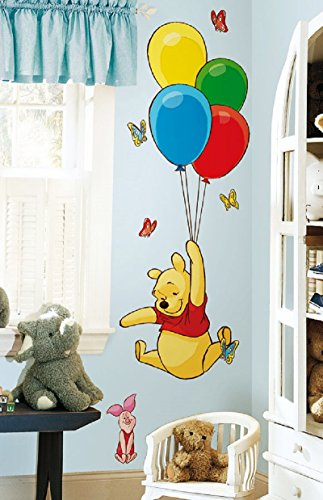 Hochwertiger Wandtattoo Tattoo Wand Tattoo - Winnie the Pooh - mit Luftballon - künstlerisch mit außergewöhnlichem Design macht die Wand zu einen echten Blickfang