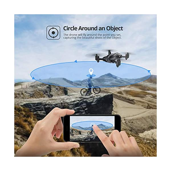 Holy Stone HS165 GPS Drone with 2K HD Camera for Adults, Foldable Drone for Beginners, FPV RC Quadcopter with GPS Return Home, Follow Me, Altitude Hold and 5G WiFi Transmission Live Video 5