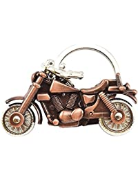 KD COLLECTIONS Avenger Royal Enfield Cruiser Bike Metal Keychain With Rotating Wheels And Movable Handlebar|Copper...
