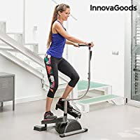 InnovaGoods IG116363 Machine de step, Mixte Adulte, Gris/Noir, Taille unique