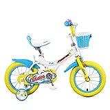 Kinder Fahrrad 12 14 16 Zoll 3-8 Jahre Alt Baby Boy Mädchen Kinderwagen Student Pedal Fahrrad (Farbe : Blue+Yellow, Größe : 14 inch)