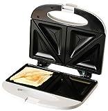 Evertoast Sandwichtoaster / Sandwichmaker mit Antihaftbeschichtung, Toaster mit 800 W Leistung, Sandwich und Toastmaker, weiss