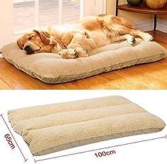 Yaheetech XL Tierbett Hundebett Katzenbett Haustierunterlage Hundesofa Waschbar 100 x 65 cm