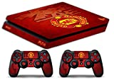 Skin Ps4 SLIM - MANCHESTER UNITED ULTRAS CALCIO - limited edition DECAL COVER Schutzhüllen Faceplates playstation 4 SONY BUNDLE