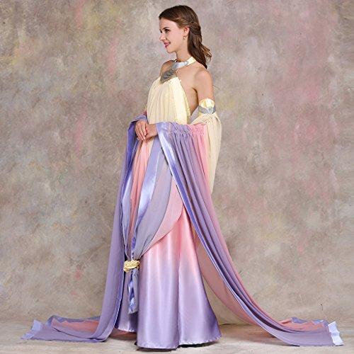 Cosplayitem Damen Königin Prinzessin Kostüm Set Verkleidung Party Cosplay Kleid Mehrfarbig