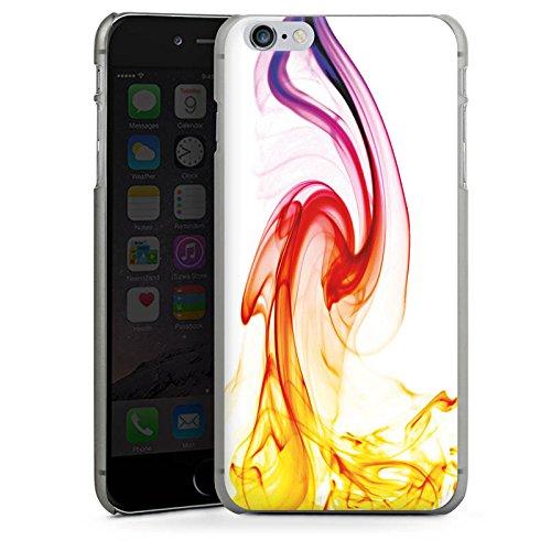 Apple iPhone X Silikon Hülle Case Schutzhülle Muster Rot Strudel Hard Case anthrazit-klar