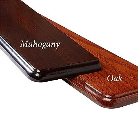 Radiator Shelf 120cm Solid Wood Metal Brackets Bevelled Edge Storage Shelving Mahogany