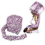 beautyshow Cappuccio asciugacapelli, Cappellino di Fissaggio di Sicurezza Portatile asciugacapelli Tappo per la Cura dei Capelli Trattamento Purple