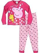 Pigiama di Peppa Pig per bambine. La tua piccola principessa adorerà questo graziosissimo pigiama di Peppa ! Il completo è composto da una maglia di colore rosa scuro con una grande stampa di Peppa e del suo orsacchiotto Teddy, le stampe di a...