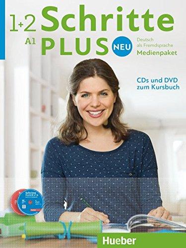 Schritte plus Neu - Deutsch als Fremdsprache, Bd.1+2 : Medienpaket, 5 Audio-CDs und 1 DVD zum...