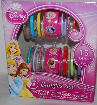 Disney Princess Sofia the First Bangle Bracelets and Heart Ring Set by H.E.R. Accessories (English Manual)