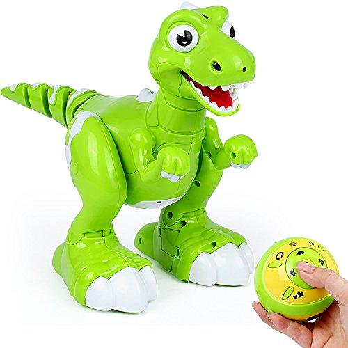 (Interaktives Dinosaurier-Fernsteuerungsspielzeug, AOMEI Sprühwasser RC wechselwirkendes gehendes Haustier leuchten Augen-Drache mit singen Tanz-Musik-Funktion für Kinder, Jungen, Mädchen)