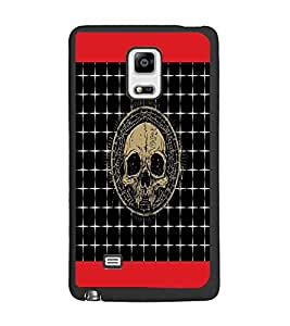 PrintDhaba Skull D-4743 Back Case Cover for SAMSUNG GALAXY NOTE 4 EDGE (Multi-Coloured)