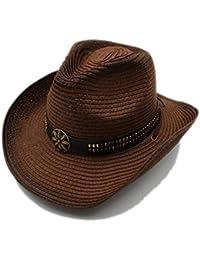 Amazon.es  sombrero paja - Sombreros cowboy   Sombreros y gorras  Ropa 33edfa63f7f