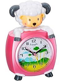 Eichmüller–Despertador infantil oveja Rosa analogwe cker con alarma Snooze y luz